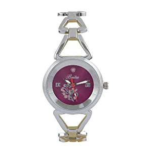 Britex Analog Dark Pink Dial Watch For Women