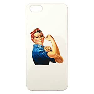 Coque de protection personnalisable en plastique - APPLE - iPhone 5 - WE CAN DO IT - Couleur : Blanche