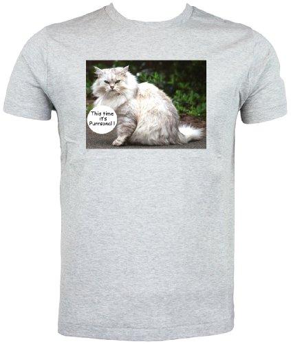 Gatto persiano T Shirt, questa volta è purrsonal Grey