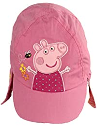 Peppa Pig Official Licensed Girls Pink Legionnaires Baseball Cap Age 3-6 Years Embrodired Design