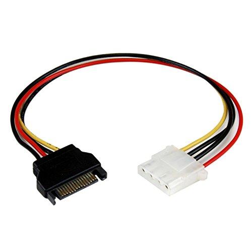 Startech.Com Adattatore di Alimentazione SATA a LP4 Molex, 30 cm, F/M, Nero/Antracite