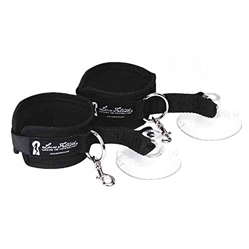 LUX FETISH Sexy Handschellen mit Saugnäpfen in schwarz