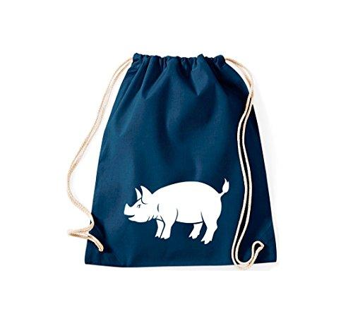 Shirtstown, Sac de gym Animaux Cochon, Eber, sau, Porcinet Bleu - Bleu