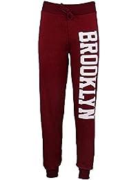 Janisramone femmes brooklyn joggeurs impression de jogging de survêtement pantalon
