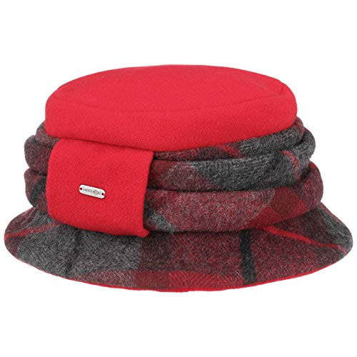 McBurn Agnes Checks Fugger Hat Wool Winter (One Size - red) 36eafc16228f