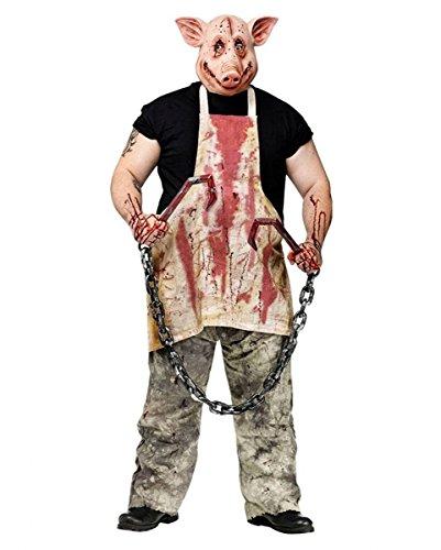 (Horror Metzger Schwein Kostüm)
