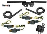 LED Mini Blinker Satz BlackEdition für Simson S50 S51 Blinkgeber Halter SCHWARZ 12V