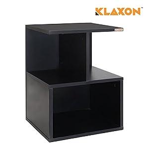 Klaxon Rado Side Table (Matte Finish, Black)