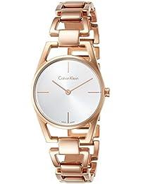 5fc1399b7c47 Calvin Klein Reloj Analogico para Mujer de Cuarzo con Correa en Acero  Inoxidable K7L23646