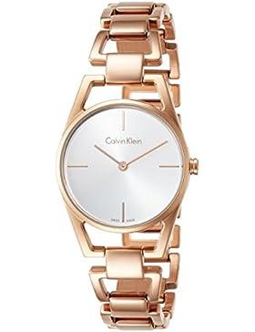 Calvin Klein Damen-Armbanduhr Analog Quarz One Size, silberfarben, rosé