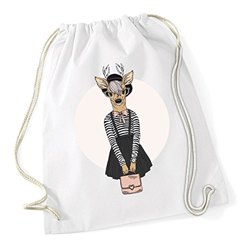 Certified Freak Fashion Deer Gymsack White