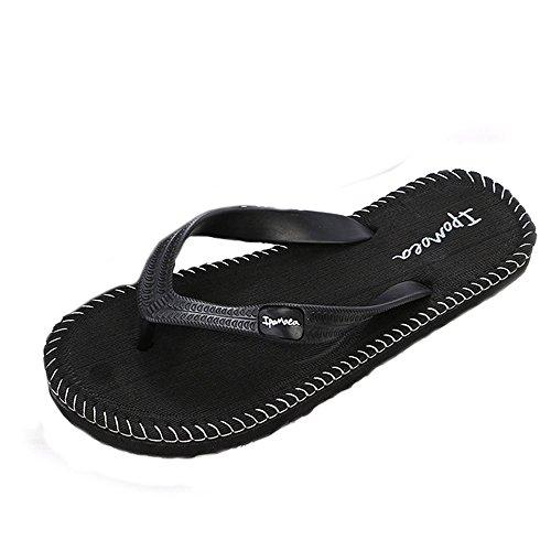 sandales,LHWY Hommes sandales d'été pantoufles mâle intérieur ou extérieur tongs chaussures Noir