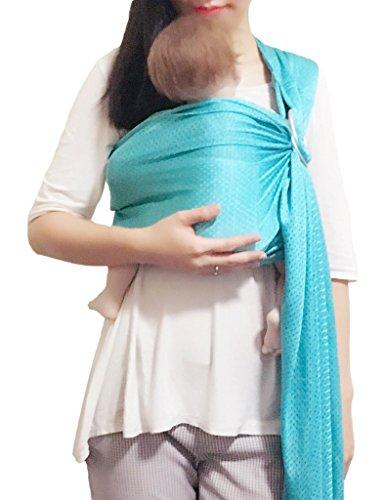 Vlokup Einstellbar Babytragen Babytragetücher BabyWasserRing-Riemen Säuglings verpackung mit Aluminiumring Bestes Baby-Geschenk Eine Größe passte alle Red -