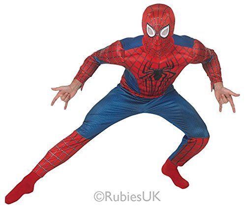 rman 2 Mens Fancy Dress Superhero Adults Costume Outfit New (XL Up To 46