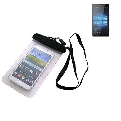 K-S-Trade Für Microsoft Lumia 950 XL Dual SIM Beach Bag wasserdichte Regen/Schnee Schutz Hülle 16cm x 10cm Schutzhülle Staub Sand Flachwasser Beachbag Case protecion Strand Wandern Outdoor für Micros