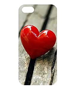 Dzinetree Love Series Back Cover For Apple iPhone 5 - Red