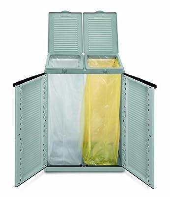 Terry 43560Behälter für Mülltrennung A 2Türen Terry ECO Cab 2, grau von Terry auf Gartenmöbel von Du und Dein Garten