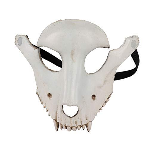 Amosfun Halloween Schaf Schädel Form Maske Cosplay Maskerade Party Ziege Gesichtsmaske