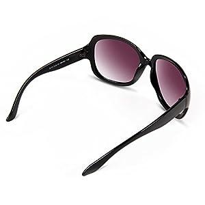 BLDEN Mujer Grande Gafas De Sol moda polarizadas gafas UV400 Protección Para Conducción GL3113-BLACK