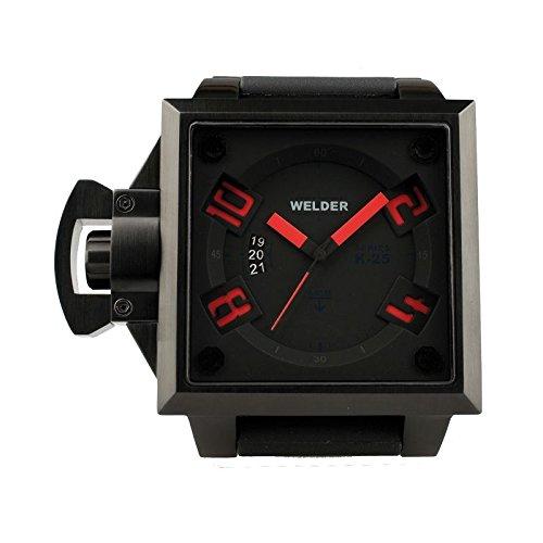 Coffret reloj Welder hombre K-25modelo Data negra y roja–4101/1749K25–en Promo
