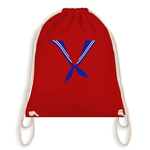 Anlässe Kind - Matrose Kostüm Tuch - Unisize - Rot - WM110 - Angesagter Turnbeutel / Gym Bag