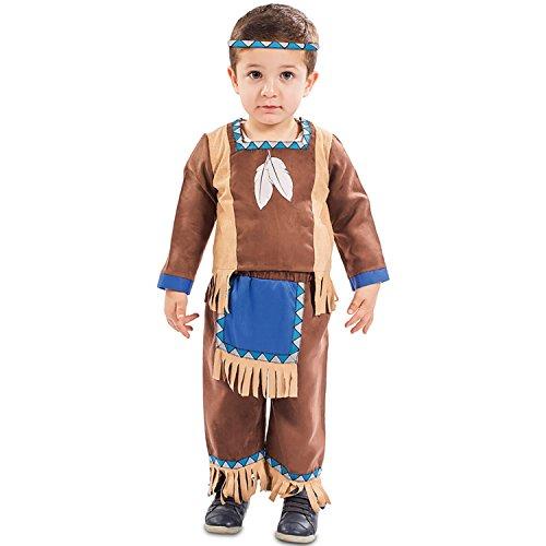 EUROCARNAVALES Kinder Kostüm Indianer Kenai Alter 1-2 Jahre Einheitsgröße Baby Kleinkind Cowboy Rothaut Western Fasching - 1 Jahr Alter Baby Junge Kostüm