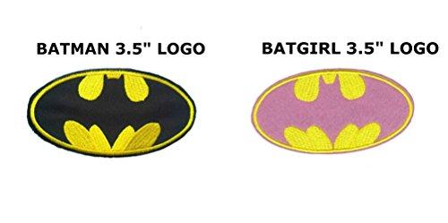 man und Batgirl 8,9 cm Logos (2er-Pack) bestickt Aufnäher ()
