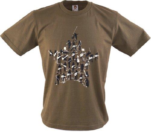 Fun T-Shirt `Band` / Spaß T-Shirts Braun