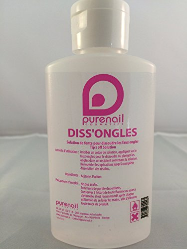 Acetona Pura en 100 ml para unas falsas, en gel UV, o esmalte