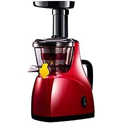 YSjuicer Entsafter Slow Masticating Entsafter mit Reverse-Funktion Cold Press Entsafter mit Still Motor Juice und Pinsel für hohen Nährstoff Saft, BPA frei 160W rot