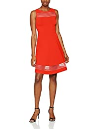 French Connection Tobey Crepe Knits S/Ls Flr Lng, Vestido para Mujer