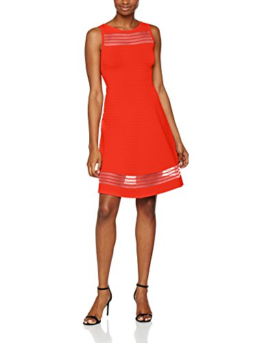 French Connection Tobey Crepe Knits S/Ls Flr Lng, Robe Femme, Small Orange (Sunset Wave)