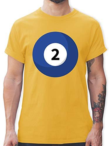 Gruppe Paare Kostüm 2 Für - Karneval & Fasching - Billard Kugel 2 Kostüm - XXL - Gelb - L190 - Herren T-Shirt und Männer Tshirt