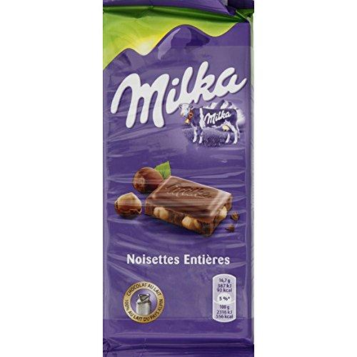 milka Chocolat au lait aux noisettes entières - ( Prix Unitaire ) - Envoi Rapide Et Soignée