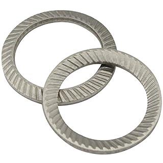 SCHNORR-Sicherungsscheiben Form S - M8 - (2 Stück) - Schnorrscheiben S8 / Sicherungsscheiben - rostfreier Edelstahl A2 (V2A) - SC9024 | SCHNORR®