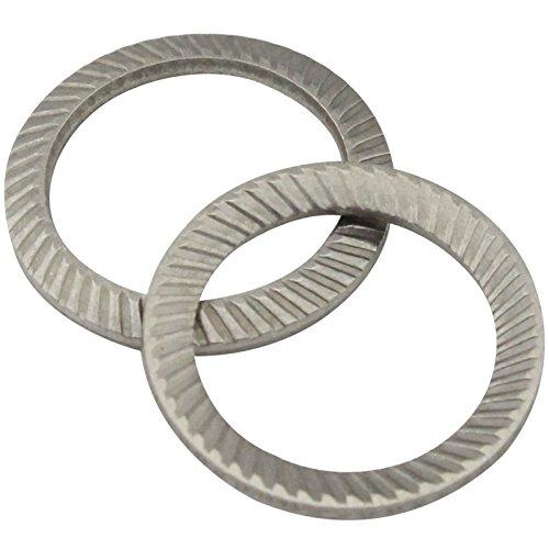 SCHNORR-Sicherungsscheiben Form S - M6 - ( 100 Stück ) - Schnorrscheiben S6 / Sicherungsscheiben - rostfreier Edelstahl A2 (V2A) - SC9024 | SCHNORR®
