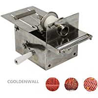 CGOLDENWALL Griff Edelstahl Wurst Binden Verknoten Maschine Wurst Gehäuse Bindemaschine Smoked Sausage Knoten Machin Wurst Linker Maschine Max. Sausage diameter: 0-32mm