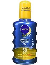 NIVEA SUN Cooling Suncream Spray SPF 50, Protect & Refresh, 200 ml
