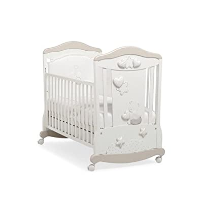 Babybett Kinderbett aus Holz Friends Erbesi bianco KEINE MATRATZE