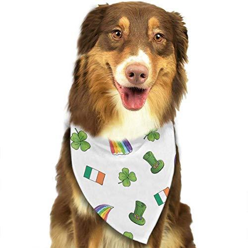 Hipiyoled St. Patrick\'s Day Irish Shamrock Muster stilvolle Haustier Hund Katze Halstuch Halstuch Halstuch Halstuch
