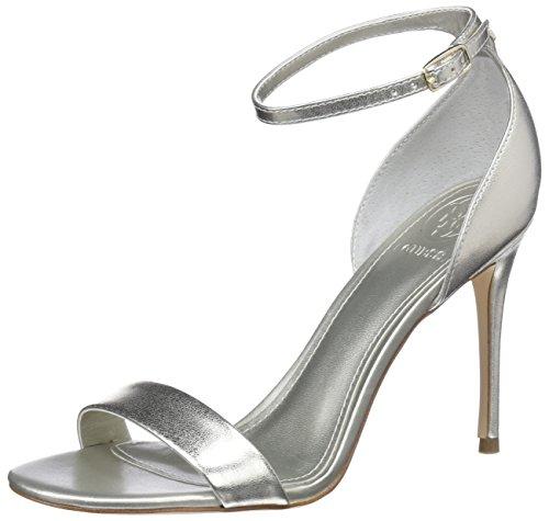 Guess Damen Footwear Dress Sandal Riemchen Pumps, Silber, 37 EU