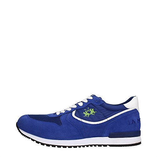 La Martina Shoes L1081283 Sneakers Uomo Scamosciato Blue Blue 40