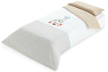 pirulos 49900000–Spannbettlaken, Baumwolle, 90x 200cm, Farbe: Leinen