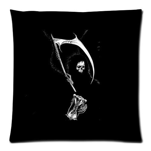 Skull Theme Personalized Custom Zippered Pilowslips Pillow Cases Cushion Cover Standard Size 18 x 18 Inches (Twin sides)