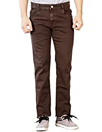 Par Excellence Men's Coffee Relaxed Fit Jeans