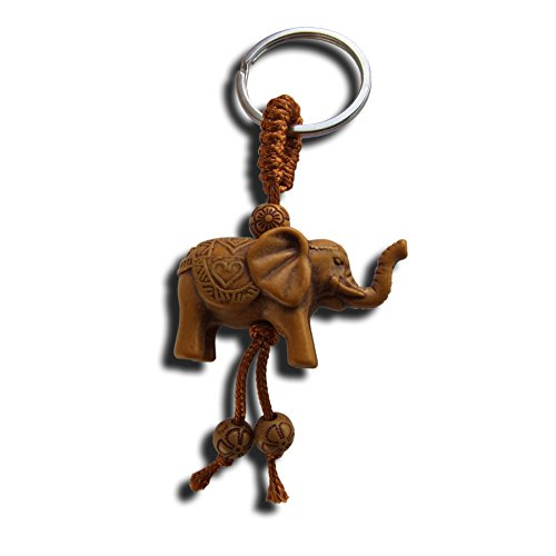 Llavero de la suerte con diseño de elefante