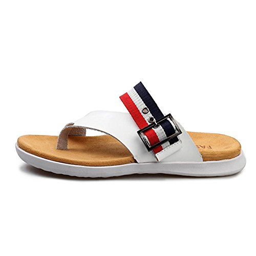 Pantofole per uomo mutandine in mucca di moda sandali antiscivolo durevole e confortevole White