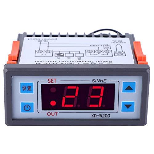 Liukouu XD-W200 Digital Thermostat einstellbarer Temperaturregler LCD-Display(24V) -