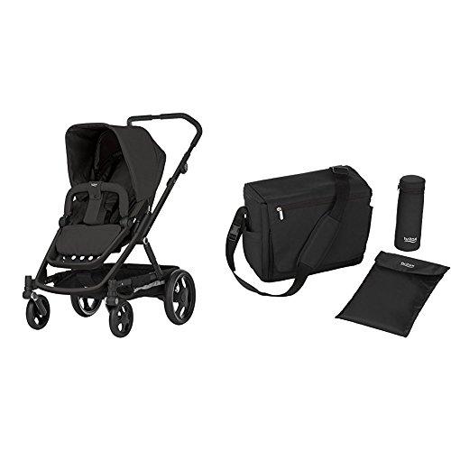 Britax GO Kinderwagen mit Sportaufsatz (6 Monate - 3 Jahre), Kollektion 2018, Cosmos Black mit passender Wickeltasche