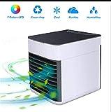 Mini Refroidisseur d'air, Climatiseur 3 en 1,Purificateur d'air, Ventilateur de Radiateur Portable Privé, Ventilateur Silencieux, Mini Climatiseur USB pour Bureau, Chambre à Coucher, Camping